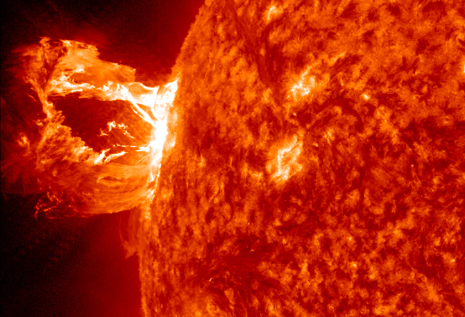 Image of a solar flare