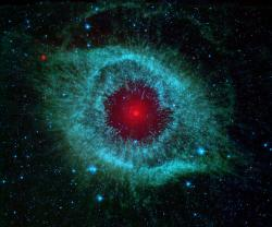 Infra-red image of the helix nebula taken by Spitzer