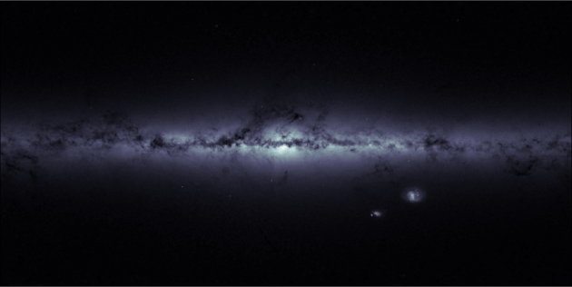 Gaia map of the star density of the Milky Way