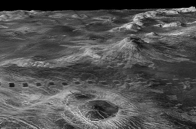 A map of Venus' surface using radar