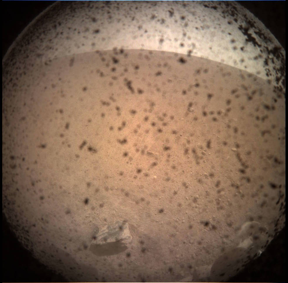 Image of area in front of the InSight lander after touchdown.