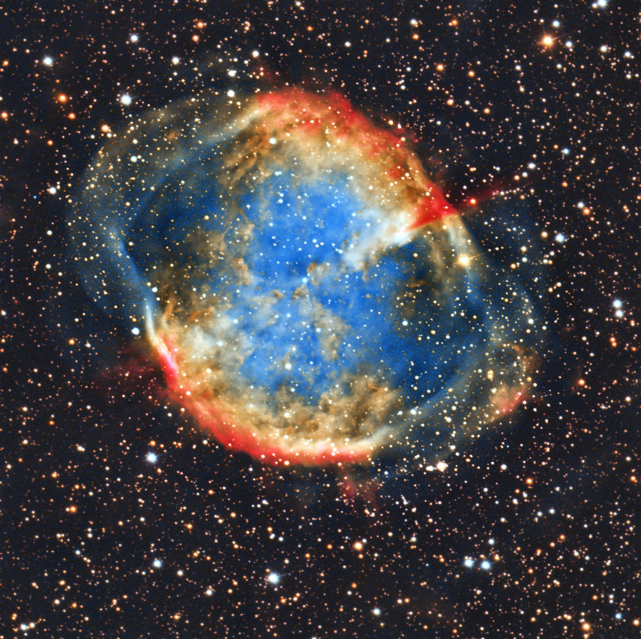 Dumbell Nebula by Guy Wells via Facebook