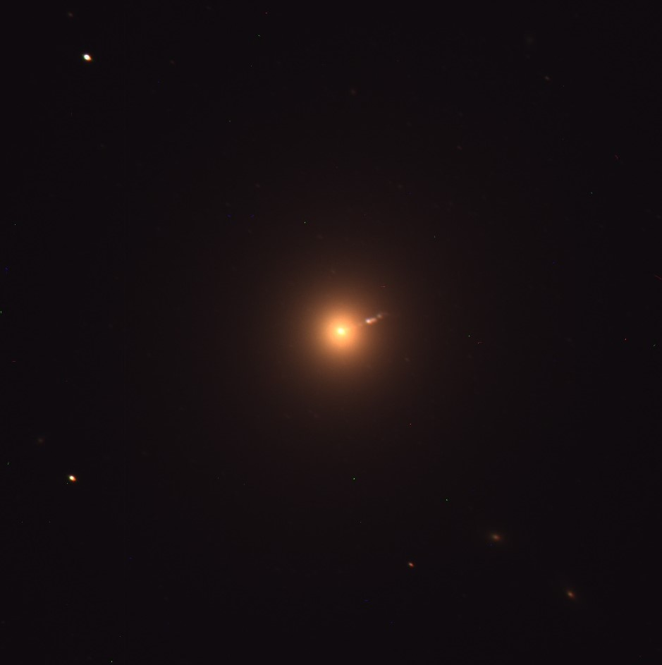 Messier 87 with the relativistic jet in view on the right-hand side