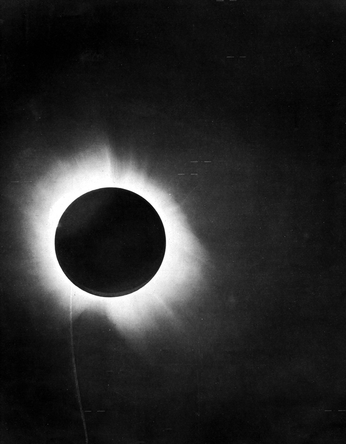 Eddington's photo of the eclipse