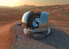 Artist's impression of the European Extremely Large Telescope (E-ELT)