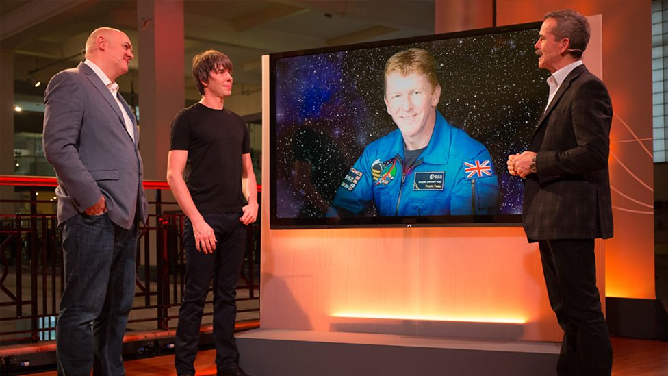 BBC Stargazing Live talk about Tim Peake during his launch