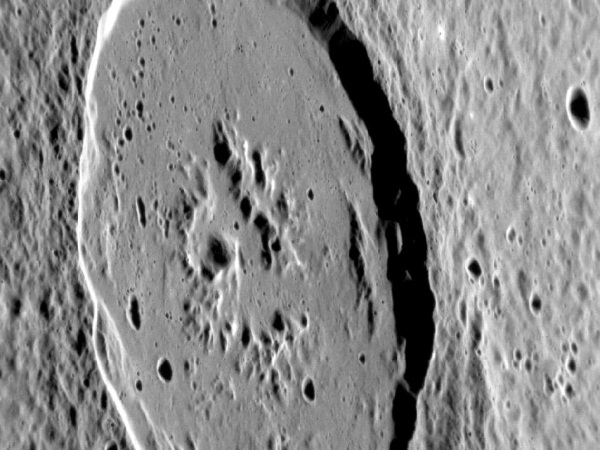 NASA Messenger spacecraft's image of the Atget Crater on Mercury