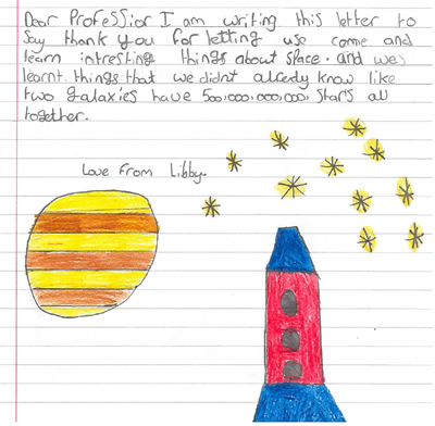 Thank you letter from Libby