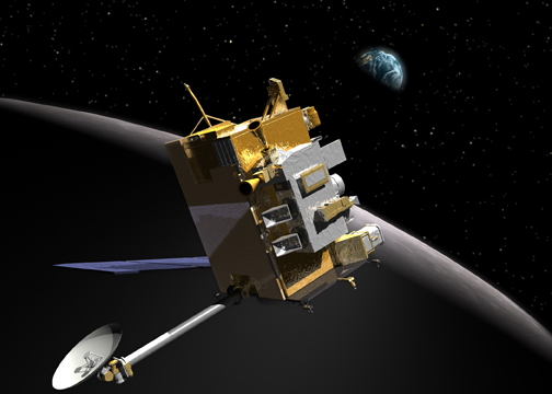 Artist's impression of the Lunar Reconnaissance Orbiter