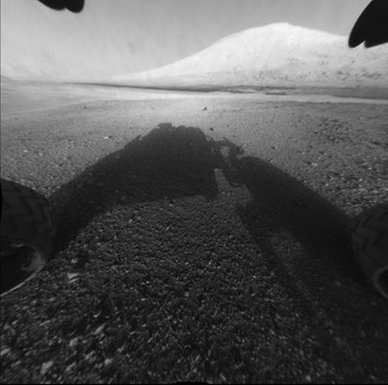 One of the first images from the Curiosity Rover