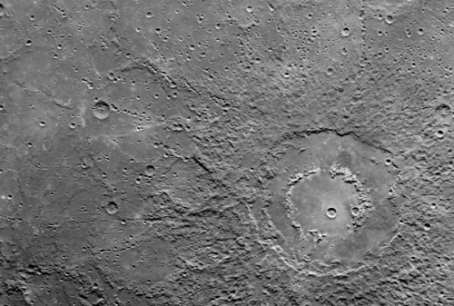 Double Crater on Mercury