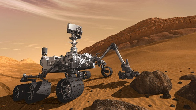 Artist's impression of the Curiosity Rover