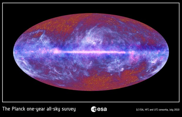 All sky image of the Infrared Universe