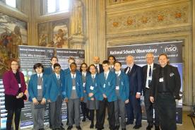 The NSO with London students at the Houses of Parliament
