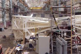 The enclosure of the LT being built in Birkenhead