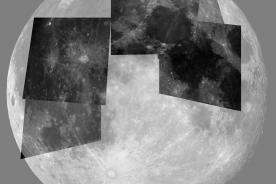 A set of Moon observations stitched together