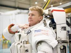 Major Tim Peake during spacewalk training