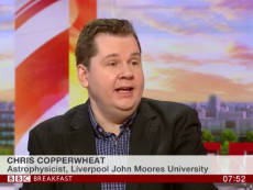 Dr Chris Copperwheat on BBC Breakfast