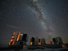 Perseid's over the VLT