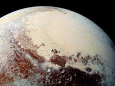 Diverse terrain on the surface of Pluto